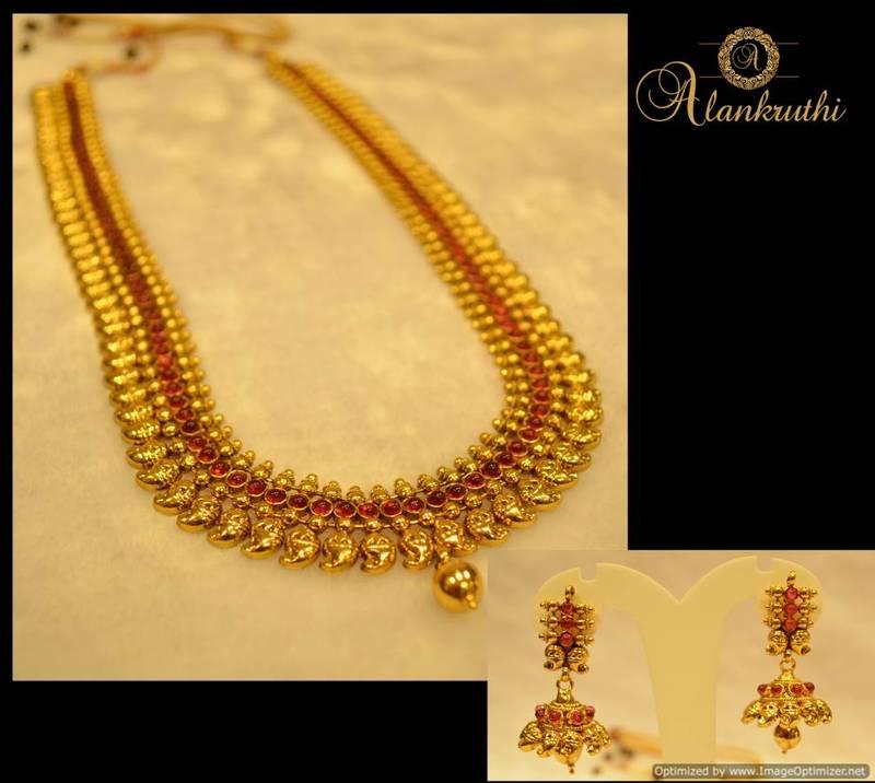 Buy Alankruthi Fancy Gold Necklace Set 8 Online