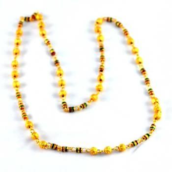 gold platted moti mala size-26''inch