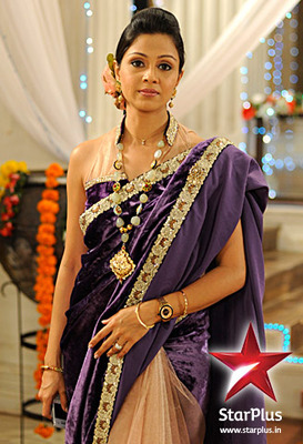 Saraswatichandra special  Purple Velvet saree