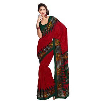 Hypnotex Bhagalpuri Maroon Color Designer Saree Fig2312D