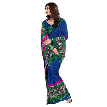 Hypnotex Bhagalpuri Blue Color Designer Saree Fig2320B