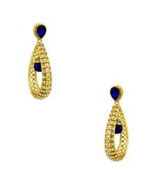 Buy Royal Blue Traditional Rajwadi Dangle Earrings Jewellery for Women - Orniza Earring online