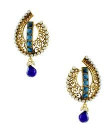 Buy Blue Traditional Rajwadi Dangle and Drop Earrings Jewellery for Women - Orniza Earring online