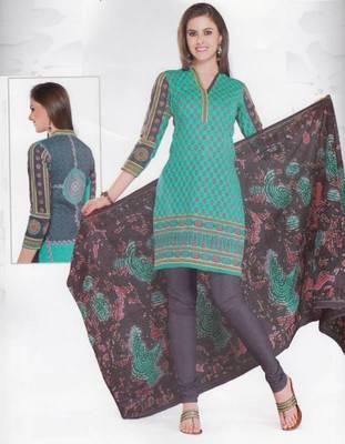 Cotton Dress Material Elegant Designer Unstitched Salwar Suit D.No 3525
