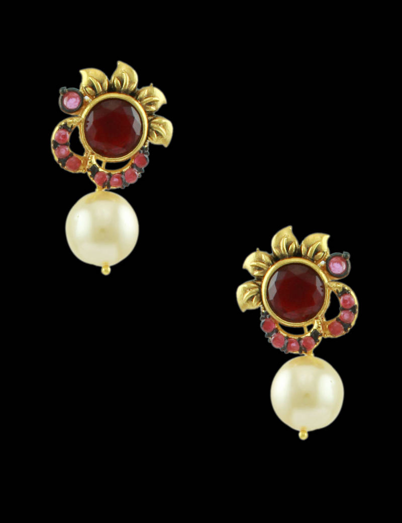 how to use silk flowers on a wedding cake buy ruby traditional rajwadi drop earrings jewellery 16194
