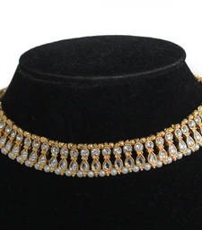 Buy Kundan Beaded choker Necklace online