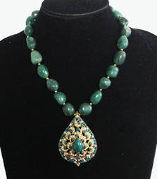 Buy Green jadau Stones Necklace Necklace online