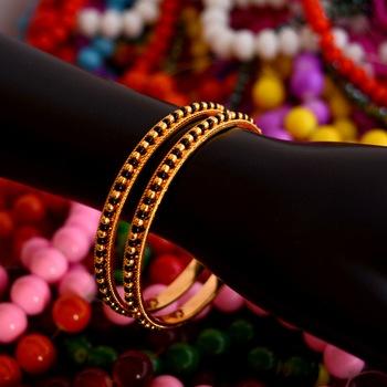Black bead bangles