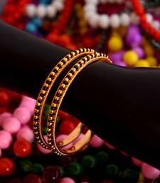 Buy Black bead bangles punjabi-jewellery online