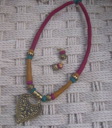 Buy ethnic choker with earring necklace-set online