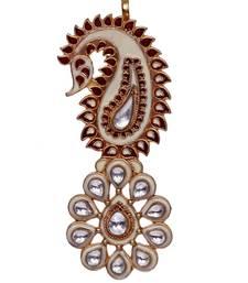 Buy Heer&Sahib Rajputana Royal Kundan Embedded Designer Wedding Turban Kalgi men-festive-wear online