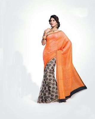 ISHIN Bhagalpuri Silk Multicolour Saree BCVIP-8546
