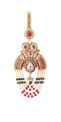 Multicolour traditional sari chhalla/waist key chain