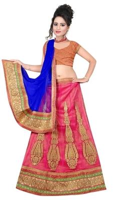 peach Indian Traditional Designer lehenga.
