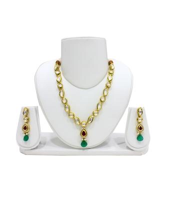 Eighth Fold Graceful Kundan Necklace Set