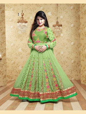 Perrat net embroidered unstitched salwar with dupatta