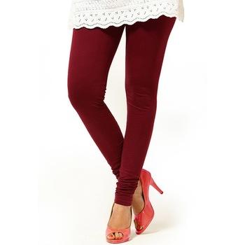 Brown plain 4-Way Lycra Cotton leggings