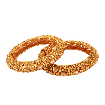 Popular Gold plated antique bangle