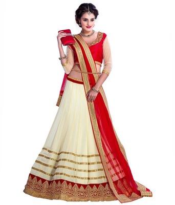 white embrodered net designeer lehngha lehngha choli with blouse