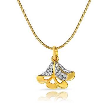 Mahi Gold Plated Exuberant Beauty Pendant