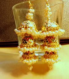 Buy navratna traditional pearl triple jhumki jhumka online