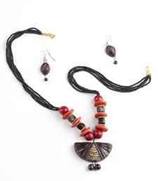 Buy Handmade Designer Terracotta Necklace and Earring Set terracotta-jewelry online