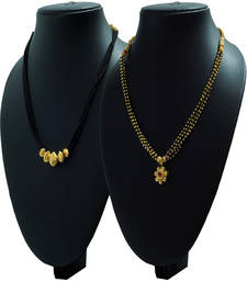 Buy Combo Pack of Two 24K Gold Plated Alloy Mangalsutra mangalsutra online