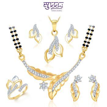 Sukkhi Royal Gold & Rhodium Plated CZ Combo