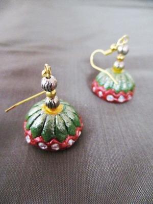 Green terracotta Jhumka