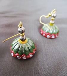 Buy Green terracotta Jhumka jhumka online