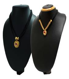 Buy Womens Trendz Combo Pack of Two 24K Gold Plated Alloy Mangalsutra mangalsutra online
