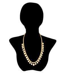 Buy Adjustable India Bollywood Jewelry Golden Pearl Necklace Mala Necklace online