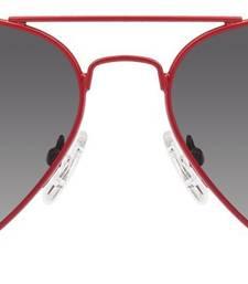 Buy Red Metalic Frame Black Gradient Lens Aviator Sunglasses sunglass online