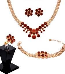 Buy Brown Cubic Zirconia necklace-sets necklace-set online