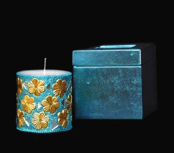 Royal Blue Hand Crafted Candles
