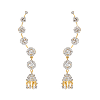 Ethnic Indian Bollywood Jewelry Set Fashion Cuff Earrings
