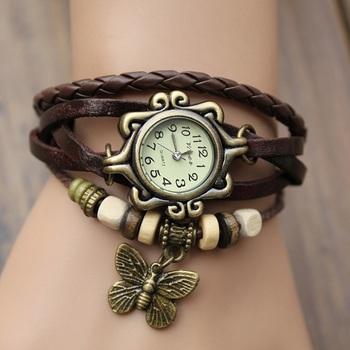 LS Designer Bracelet Watch-Brown