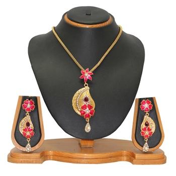 Meena Pendant Set Jewellery