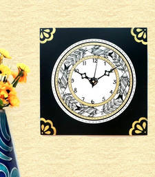 Buy Wooden Wall Clock - Madhubani wall-clock online