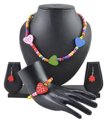 """Buy ANGEL GLITTER Gifts for Kids """"Colorful Little Hearts"""" 4-piece Jewellery Set gifts-for-kid online"""