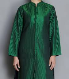 Buy Green Pure Silk Quilted Jacket heavy-work-kurtis online