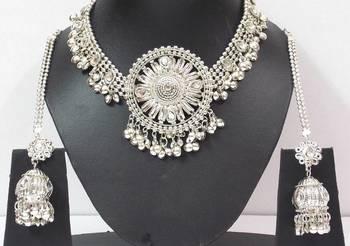Navratri Dandia Special Antique Finish Necklace