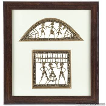Handcrafted Tribal Metal Craft With Rosewood Frame_02