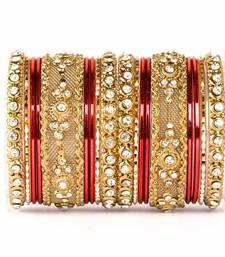 Buy Red zircon   enamel bangles and bracelets pakistani-jewellery online