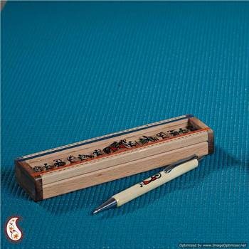 Pen n box with tribal figurines