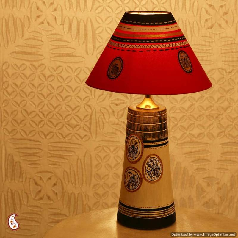 Buy an elegant hand painted lampshade in terracotta online elegant hand painted lampshade in terracotta aloadofball Choice Image