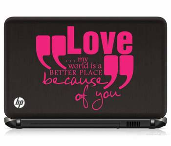 Love quote laptop decal