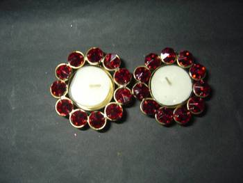 Red T-lite candle holder