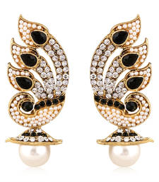Buy Best Selling Black Stone with Pearl Earring danglers-drop online