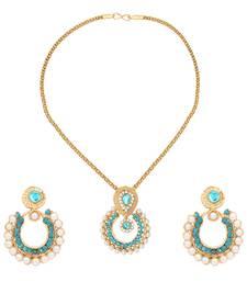 Buy Turquoise polki pendants Pendant online